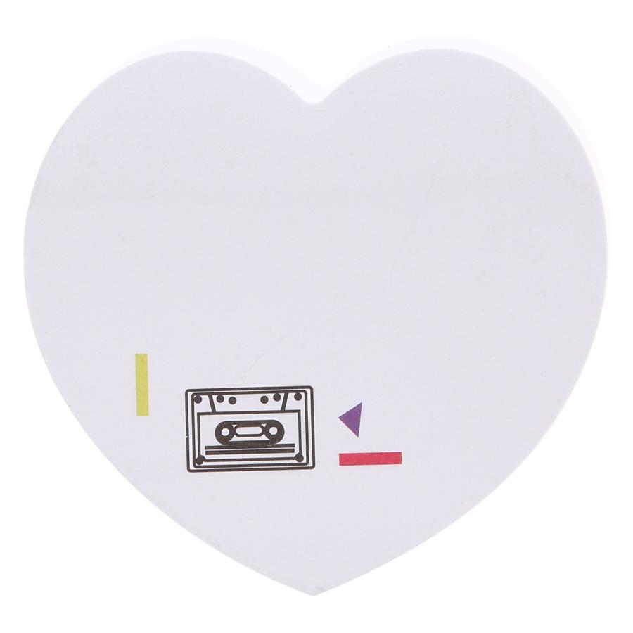 Giấy Note Tim - Kèm Bút Bubu BLTP-0051 - Hình Băng Cassette
