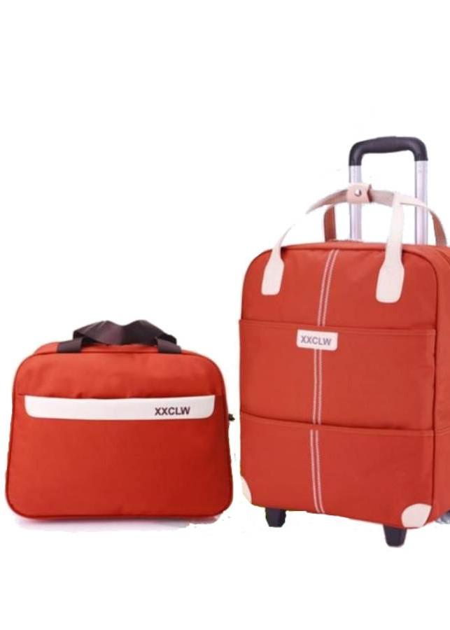 Vali du lịch tay kéo kèm túi xách vải dù