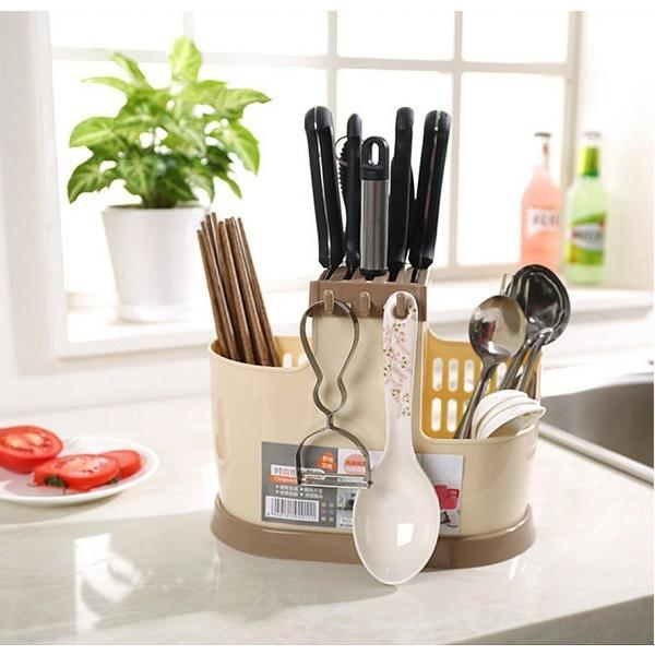 Ống đựng đũa đa năng nhựa PP cho nhà bếp
