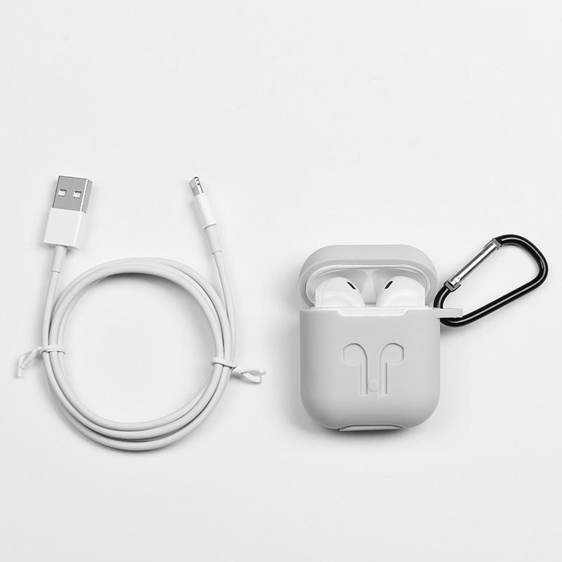 Tai nghe bluetooth đôi Hoco ES26 Plus Original series V5.0 Kèm bao da silicon (Trắng) - Hàng Chính Hãng