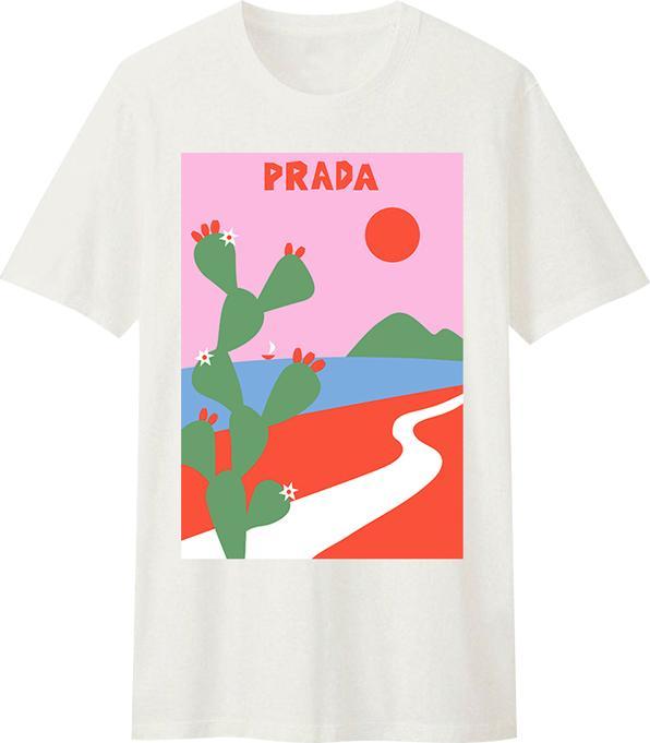 Áo Thun T-Shirt Unisex Prada Catus Dotilo - HU021 Size XXS