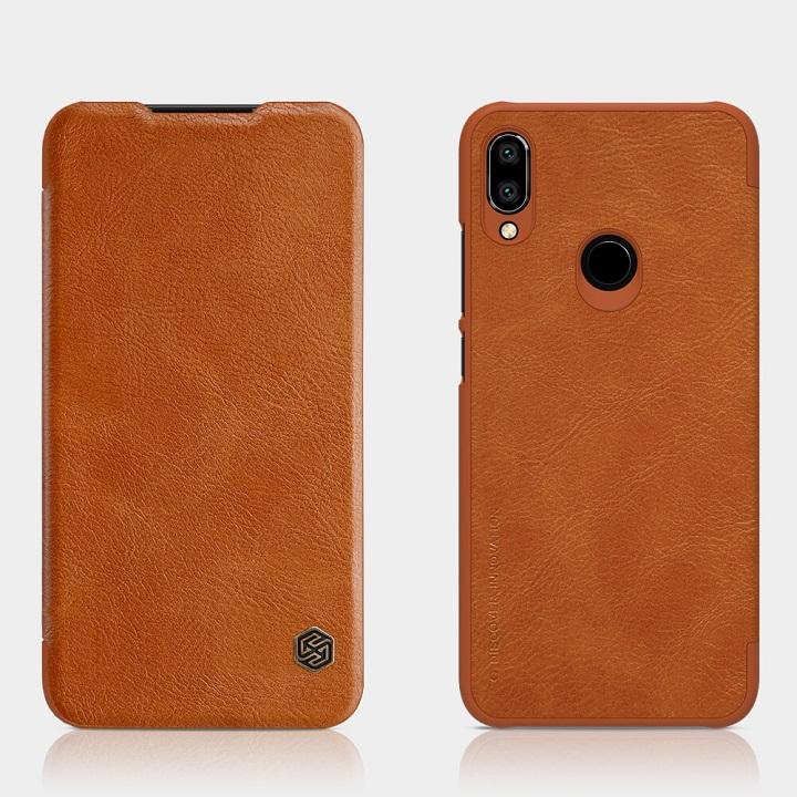 Bao da cho Xiaomi Redmi Note 7- chính hãng nillkin Qin - nâu
