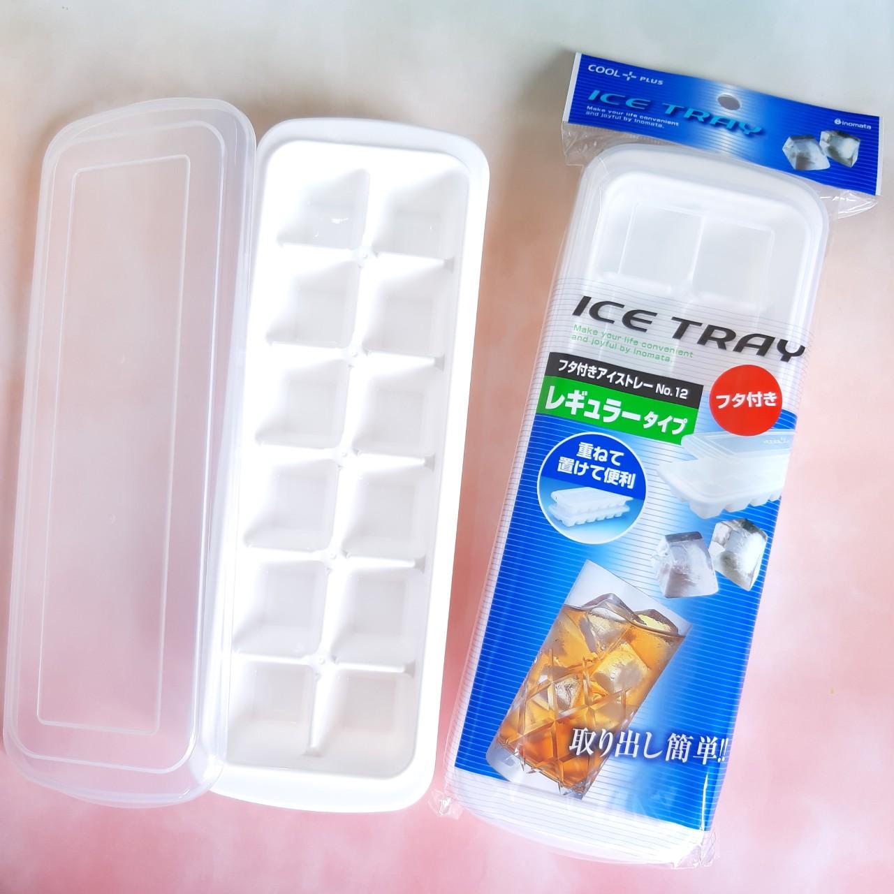 Combo 2 khay làm đá/trữ đông 12 viên nhập khẩu từ Nhật + kèm gói 100 tăm bông upass
