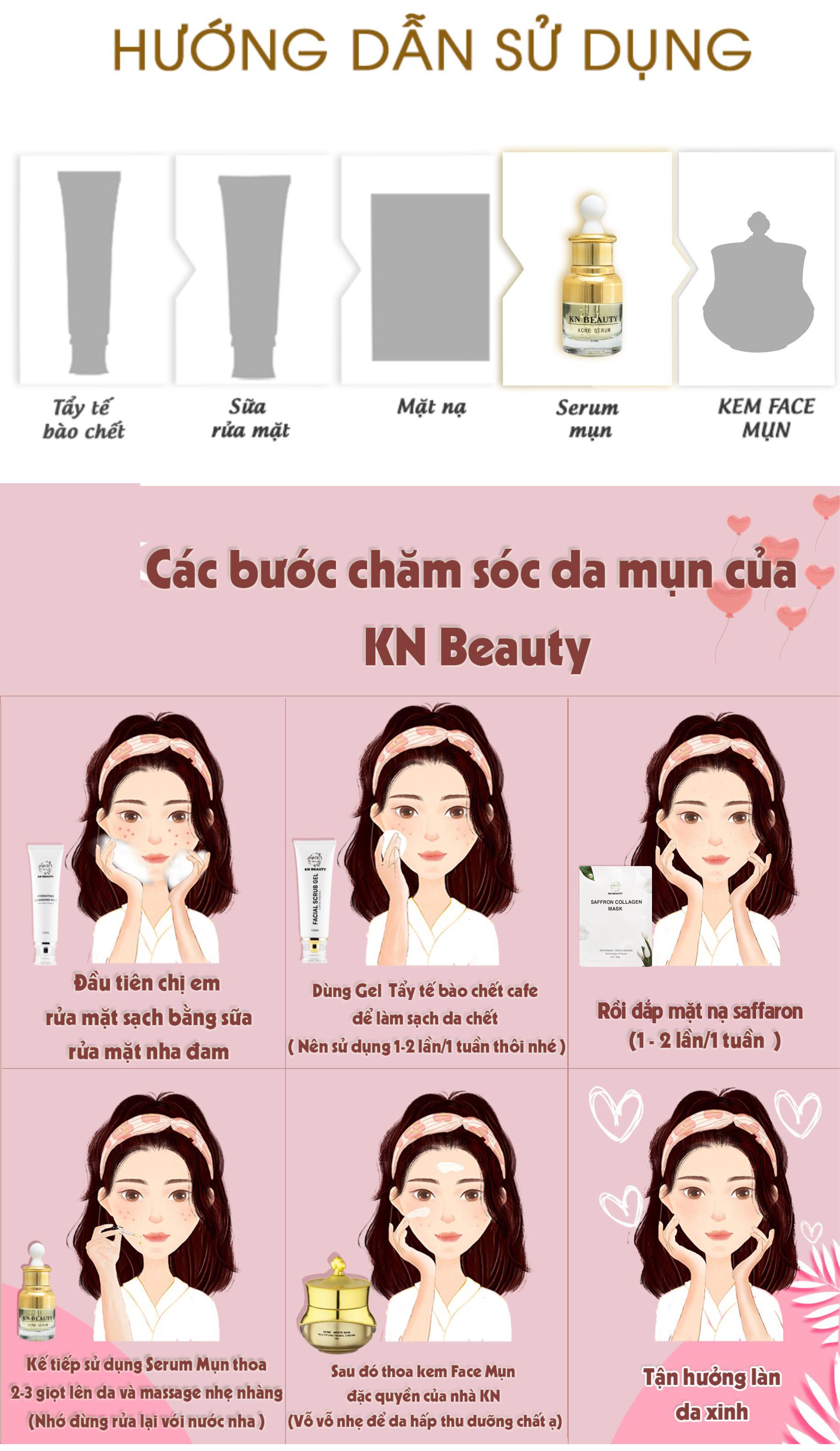 Serum Dưỡng Trắng Ngừa Mụn KN Beauty - Acne Serum 30ml