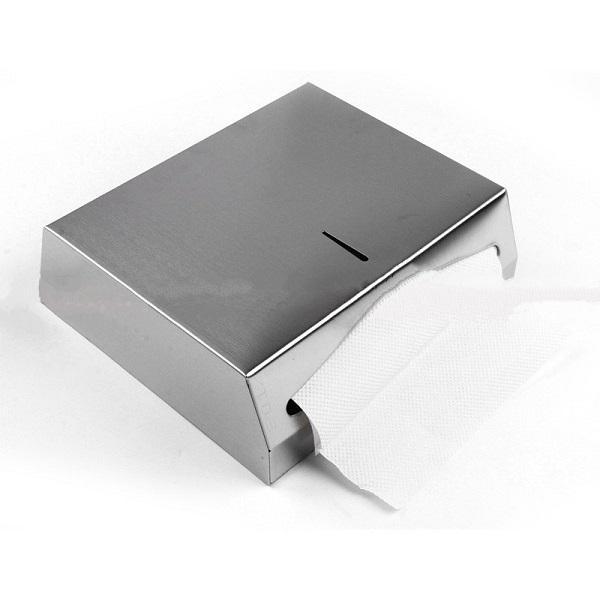 Hộp đựng giấy lau tay, chất liệu thép không gỉ D-084