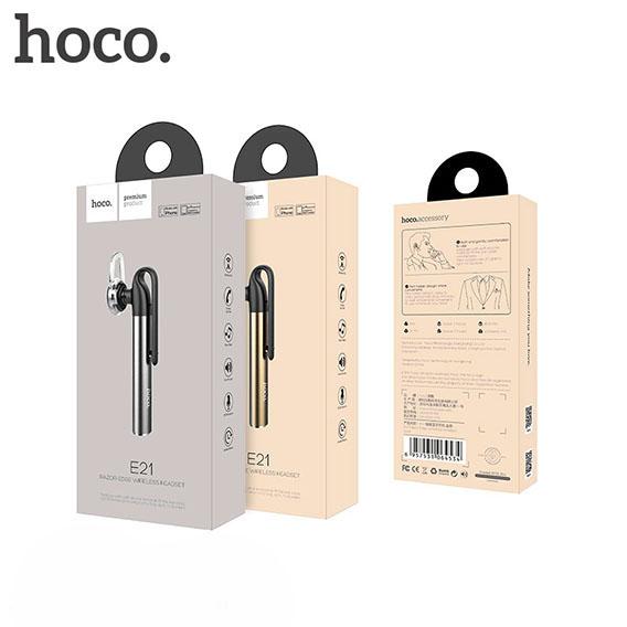 Tai Nghe Bluetooth Hoco 21E - Pin 45mAh ( Tặng 1 Dây Đeo Điện Thoại To Bản) - Hàng Đúng Hãng