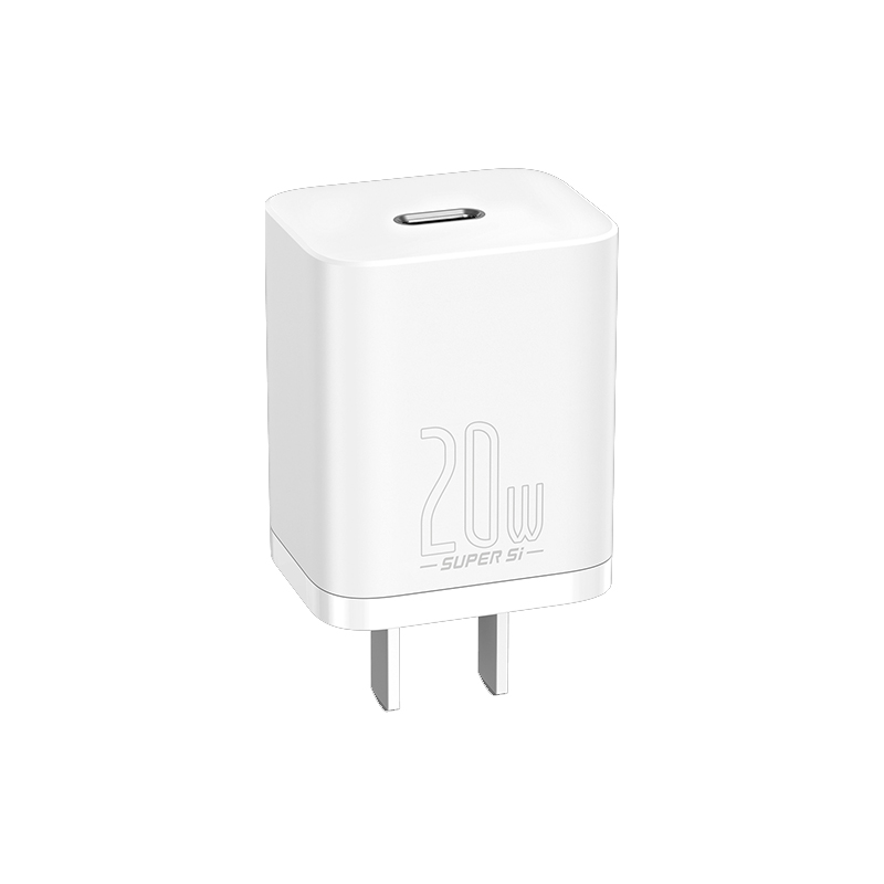 Bộ cốc cáp sạc nhanh Baseus 20W Si cho IP12, Củ sạc nhanh IP12 Baseus 20W Super Si Mini USB C hỗ trợ sạc nhanh QC3.0 PD - Hàng chính hãng