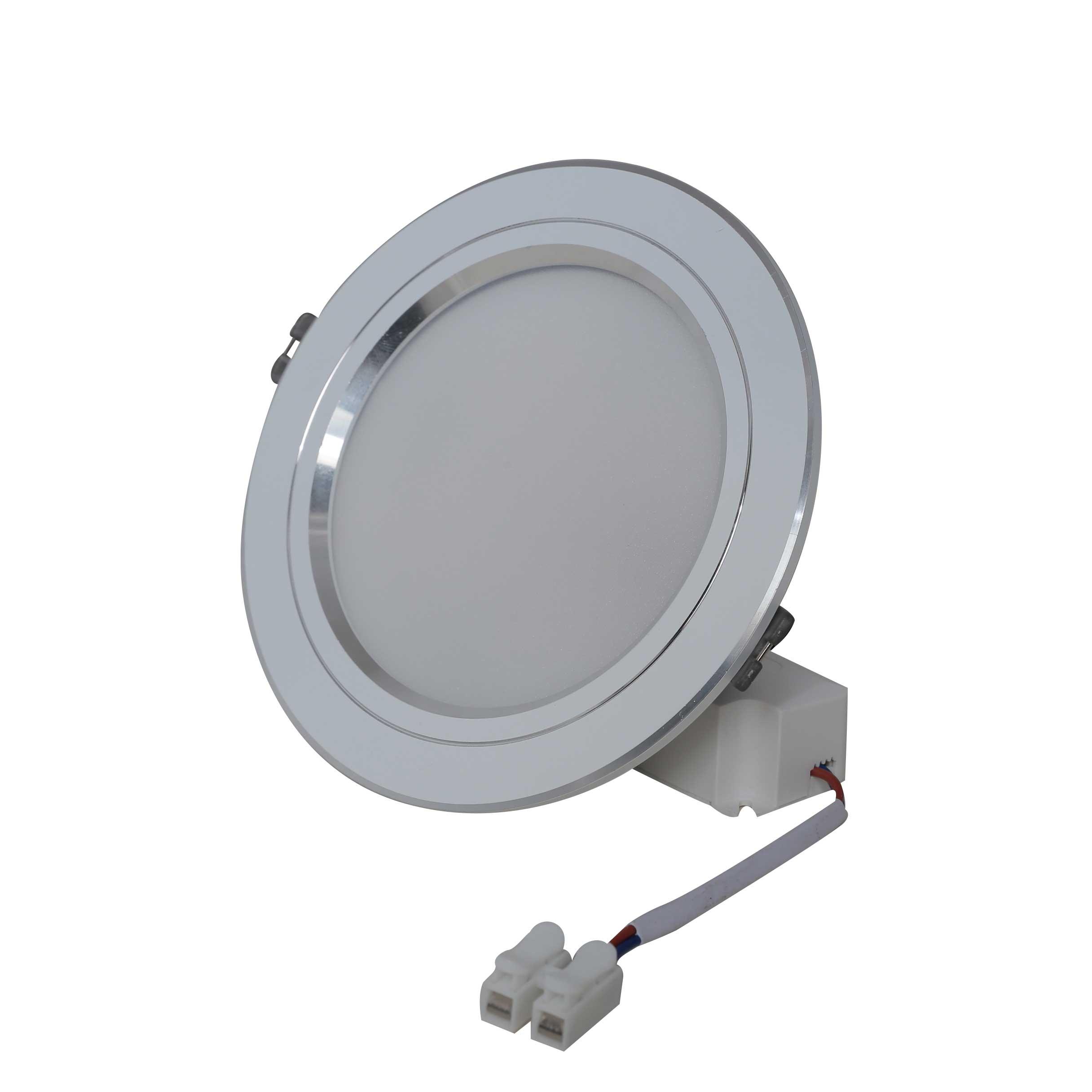 Combo  06 Đèn led âm trần khoét lỗ 110mm/9W chính hãng Rạng Đông - Viền Bạc