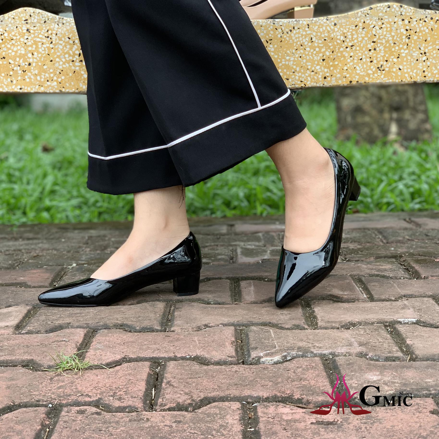 Giày Cao Gót Mũi Nhọn Cao Cấp, Chất Lượng   Giày Cao Gót Mũi Nhọn Kiểu Dáng Công Sở  Cao 3P, Êm Chân NH55203