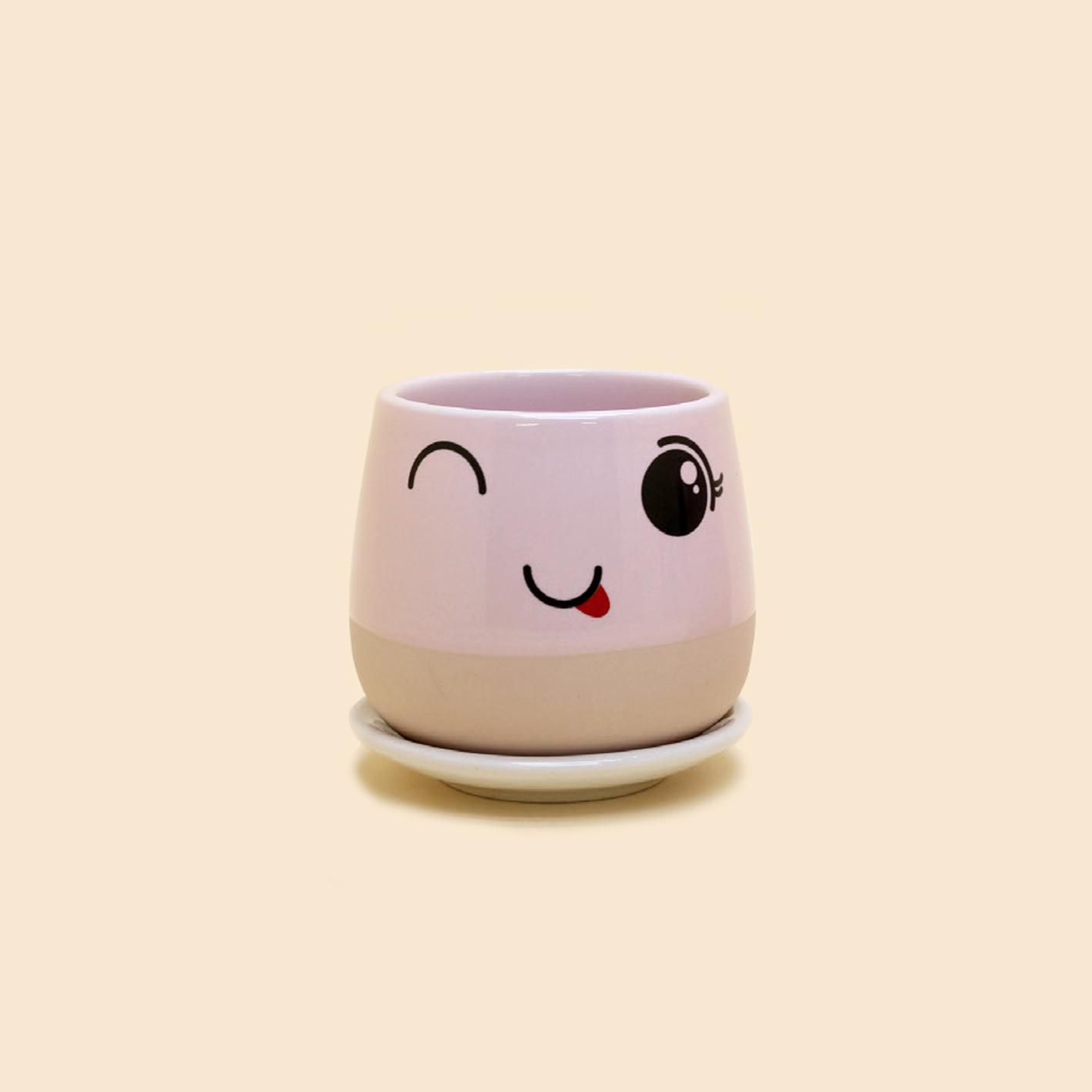 Ly gốm nhỏ uống trà Mẹ & Chị Gốm Hồng - Mom & Sis Pink Ceramic Cup S20