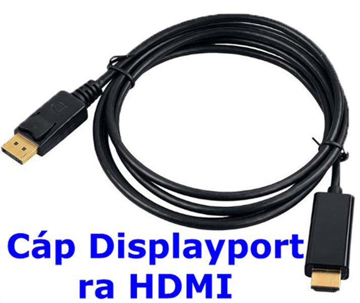 Cáp chuyển Displayport sang HDMI, DP ra HDMI dài 1m8 - Hàng Nhập Khẩu