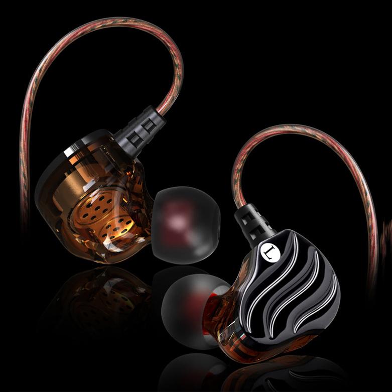 Tai Nghe nhét tai Sport Earphone móc qua vành tai kèm 4 mút tai nghe và hộp đựng (Đen)