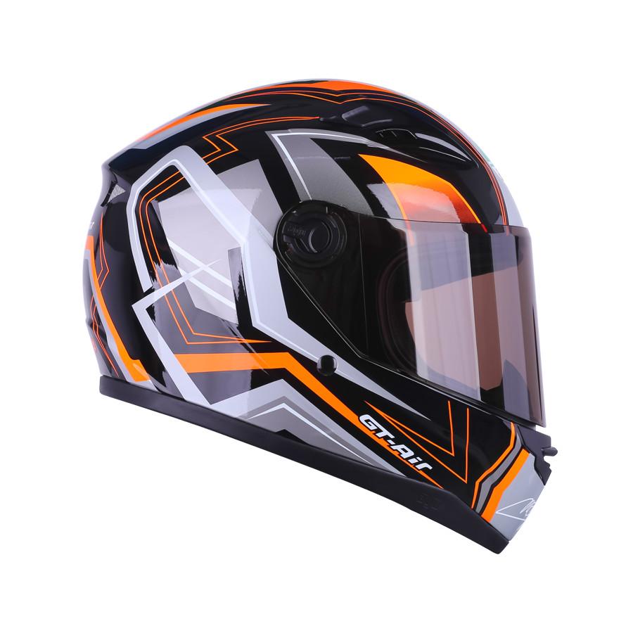 Mũ bảo hiểm Moto Fullface 3 sọc _ AGU có kính chắn gió, chống nắng, chông chói_ Nhiều màu