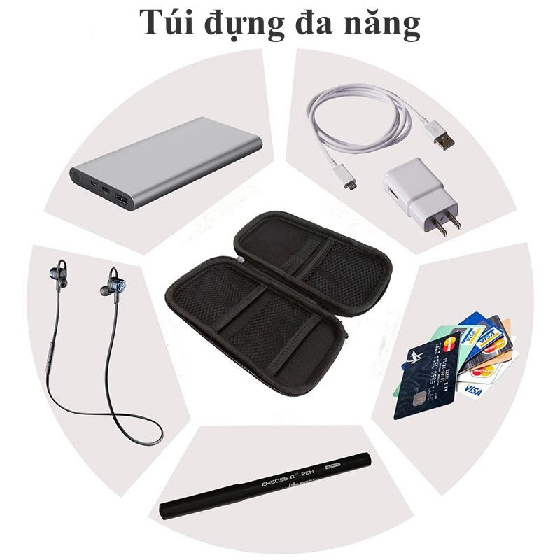 Hộp túi đa năng đựng phụ kiện công nghệ cáp sạc, tai nghe, sạc dự phòng nhỏ gọn