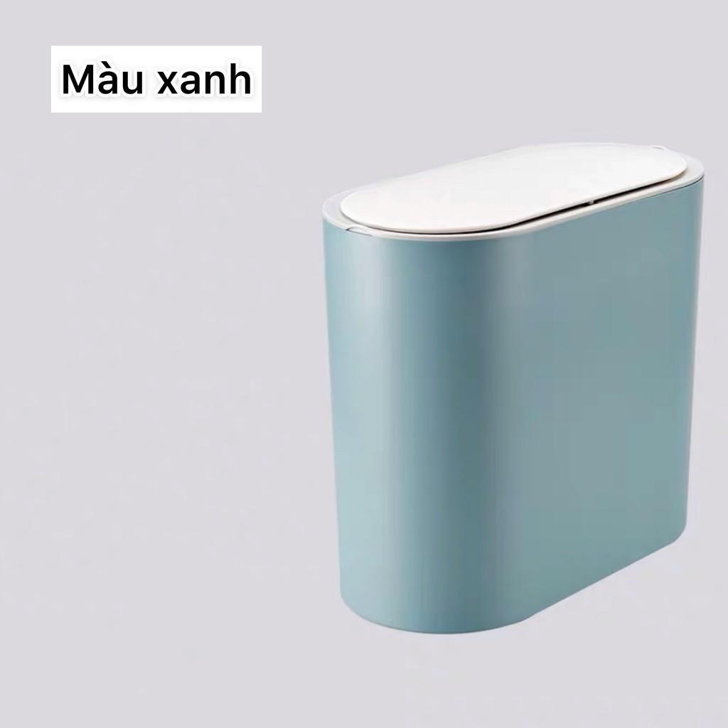 Thùng rác nhà tắm phong cách hiện đại, thùng rác thông minh ấn nút mở nắp, thùng rác phòng khách, thùng rác nhà bếp