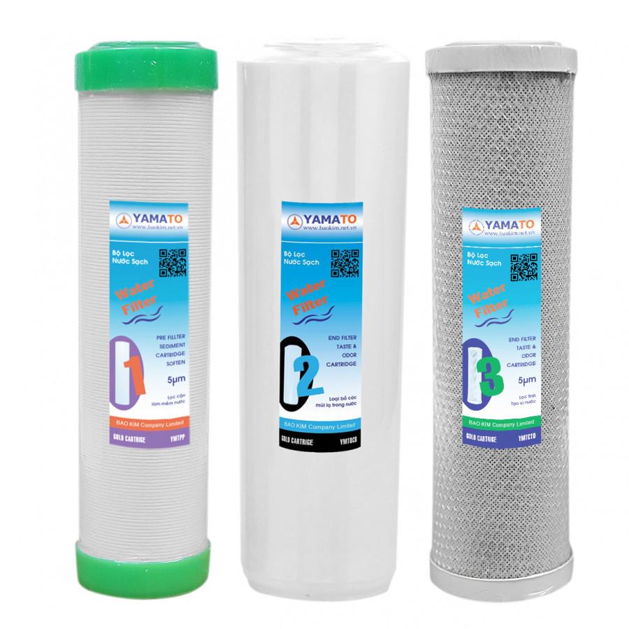Combo 3 lõi lọc nước yamato 1,2,3 - 10 inch