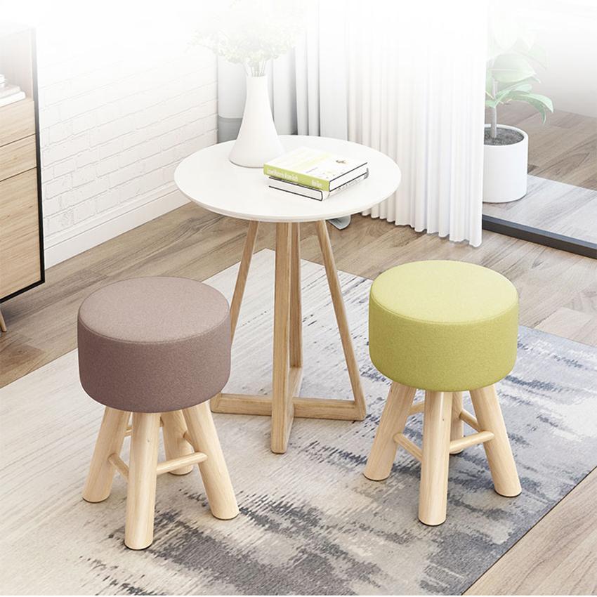 Ghế trang điểm , ghế đôn kích thước 28*28*42 cm (Giao màu ngẫu nhiên)