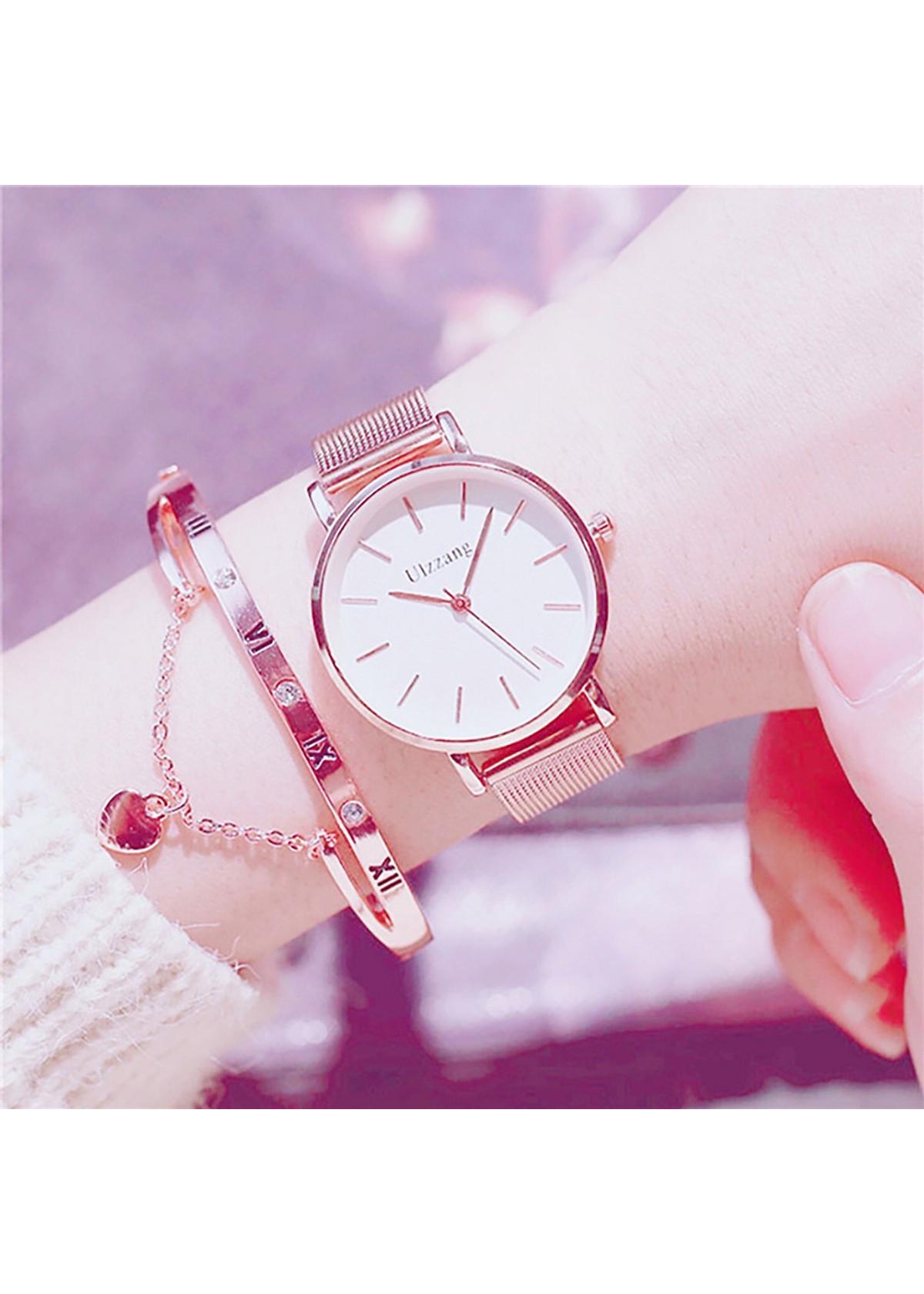 Đồng hồ nữ (Tặng lắc tay)