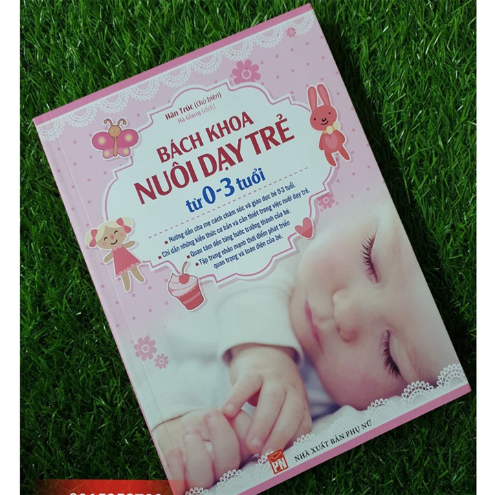 Combo Sách: Bách Khoa Thai Nghén + Bách Khoa Nuôi Dạy Trẻ + Thực Đơn Dinh Dưỡng Cho Trẻ Từ 0-3 Tuổi