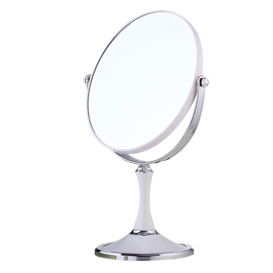Gương trang điểm 2 mặt cỡ lớn (Màu Trắng)