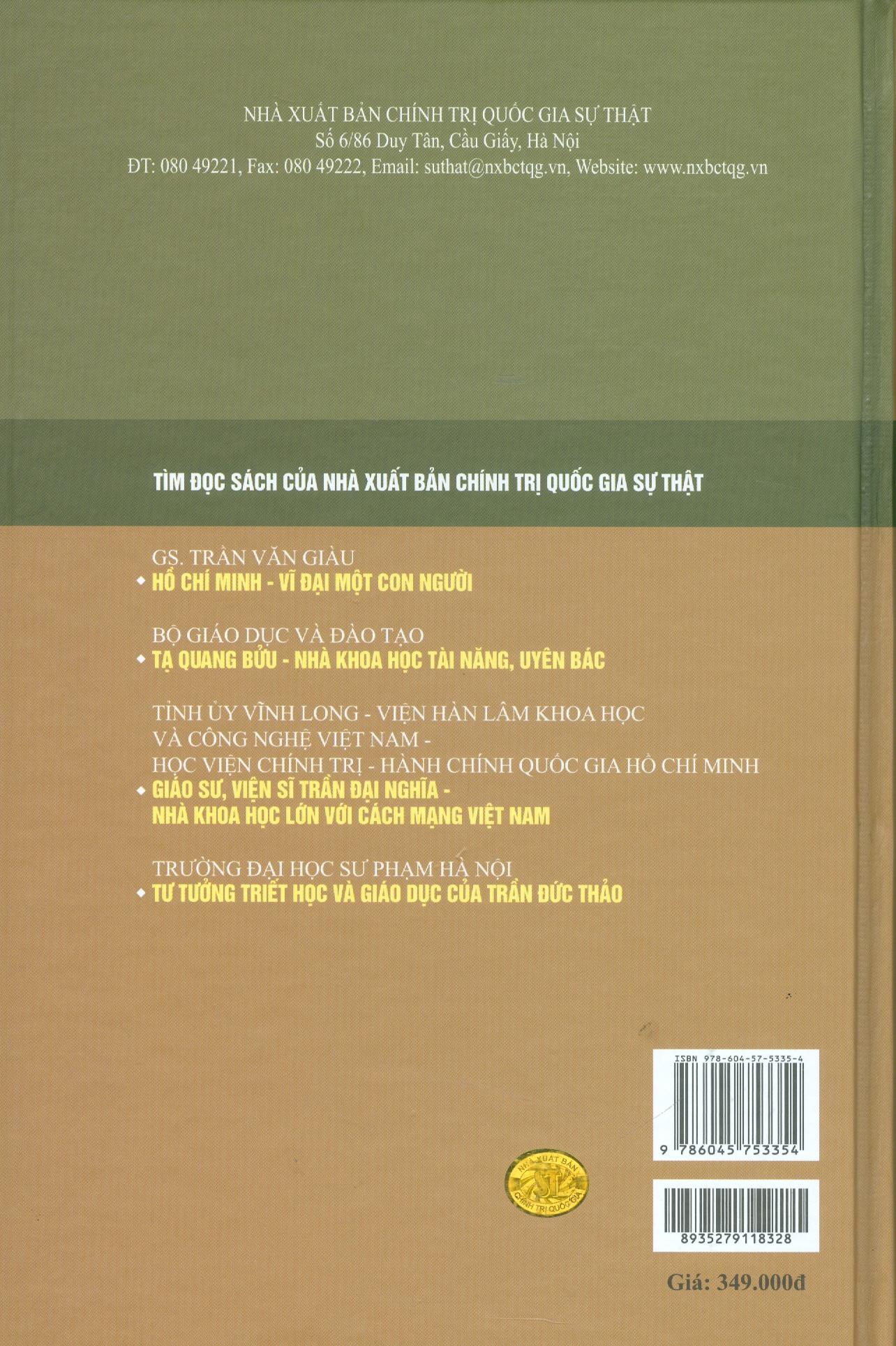 Trần Đức Thảo Tuyển Tập - Tập 2 (1956-1985)