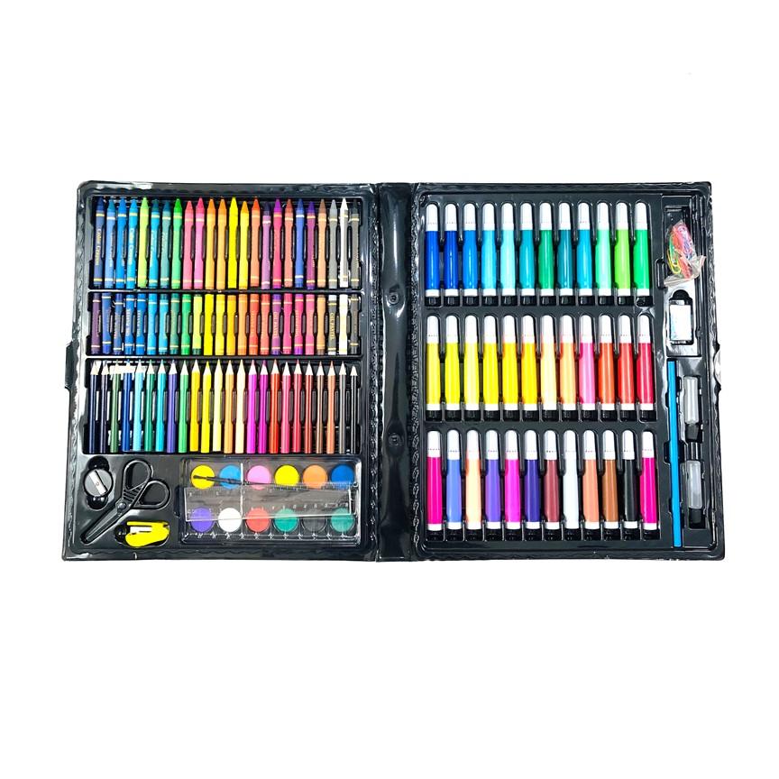 Hộp bút màu 150 chi tiết đủ tất cả các dạng màu cho bé
