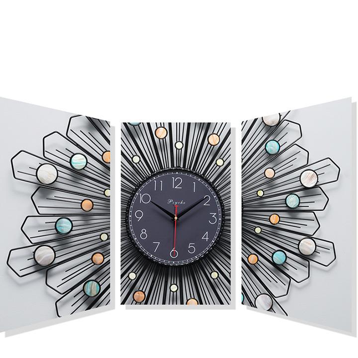 Đồng hồ treo tường kim loại hiện đại cao cấp DH-124