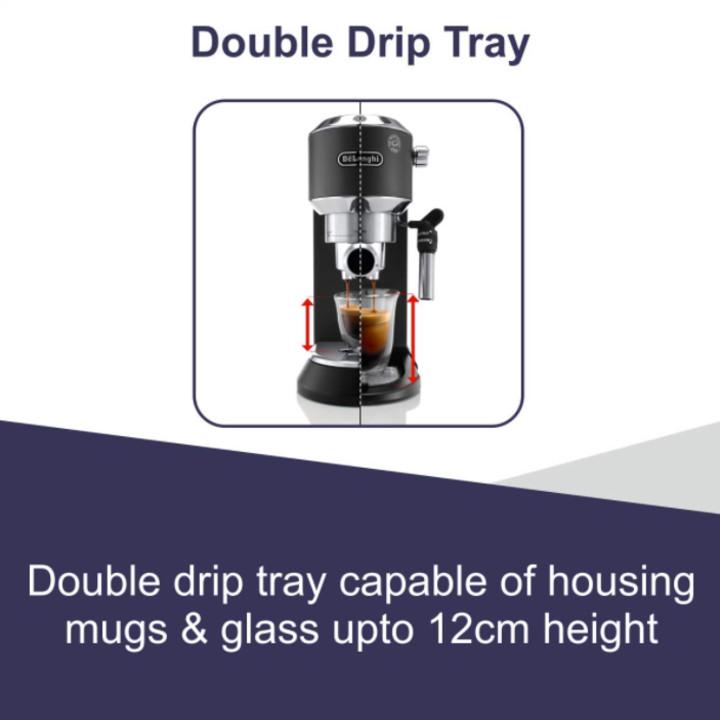 Máy pha cà phê thương hiệu Delonghi EC685.M công suất 1300W pha chế được Espresso, Cappuccino - Hàng Nhập Khẩu