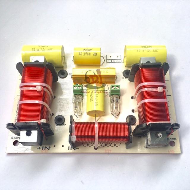 Phân tần loa đôi 2 bass 1 treble TP-999, 01 cái mạch phân âm, mạch loa, thùng loa đôi, loa array, loa treo, loa rời