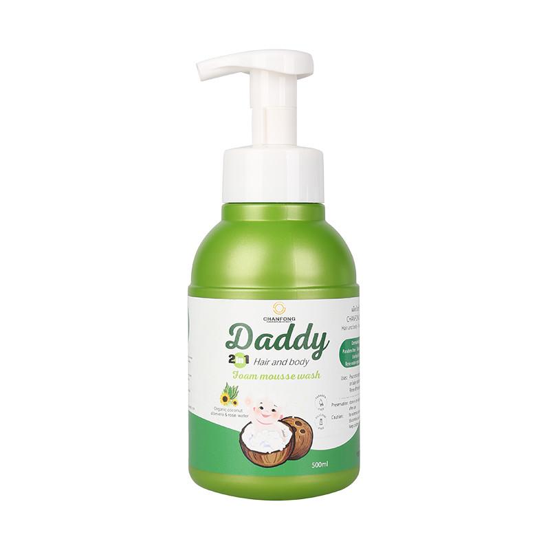 Sữa tắm gội kháng khuẩn giữ ẩm cho bé từ sơ sinh đến lớn tuổi dạng tạo bọt xuất xứ Thái Lan CHANFONG - Daddy 500ml