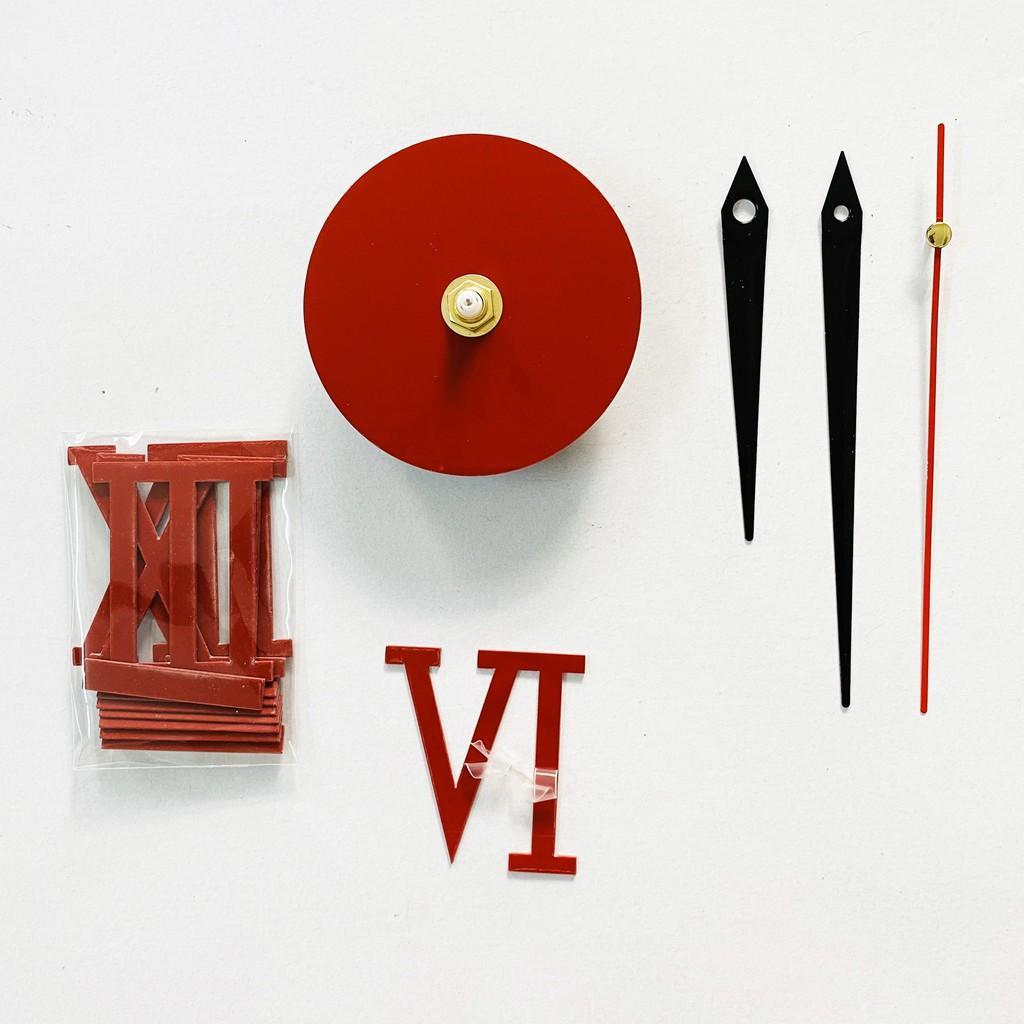 Đồng hồ dán tường DIY chữ gương Acrylic + Xốp EVA HP Electrical