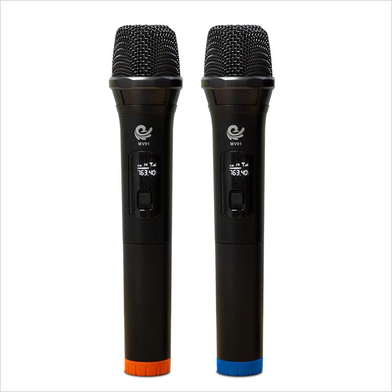 Bộ 2 Micro Karaoke Không Dây Model MV01 Siêu Hay - Kết Nối Xa Tới 35m, Kết Nối Loa Kéo, Amply Bằng Cổng MIC 6. - Hàng Nhập Khẩu