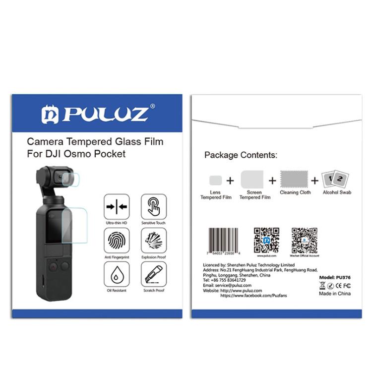Miếng dán bảo vệ màn hình và camera cho Osmo Pocket chính hãng Puluz - Hàng chính hãng