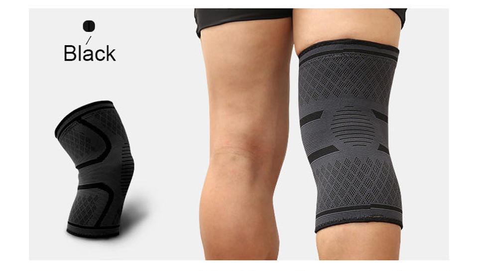 Đai gối đàn hồi bảo vệ đầu gối khi chơi thể thao Aolikes AL7718 (1 đôi) - Đen - L