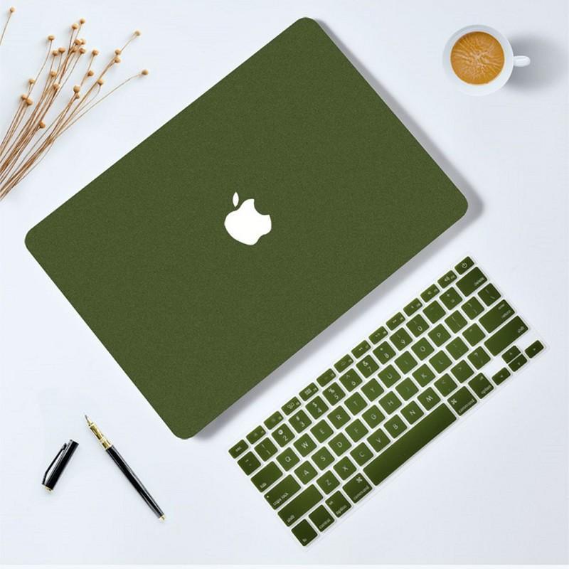 Combo Case , Ốp + Phủ bàn phím cho Macbook đồng màu (Tặng Kèm Nút Chống Bụi + Chống gãy đầu dây sạc )