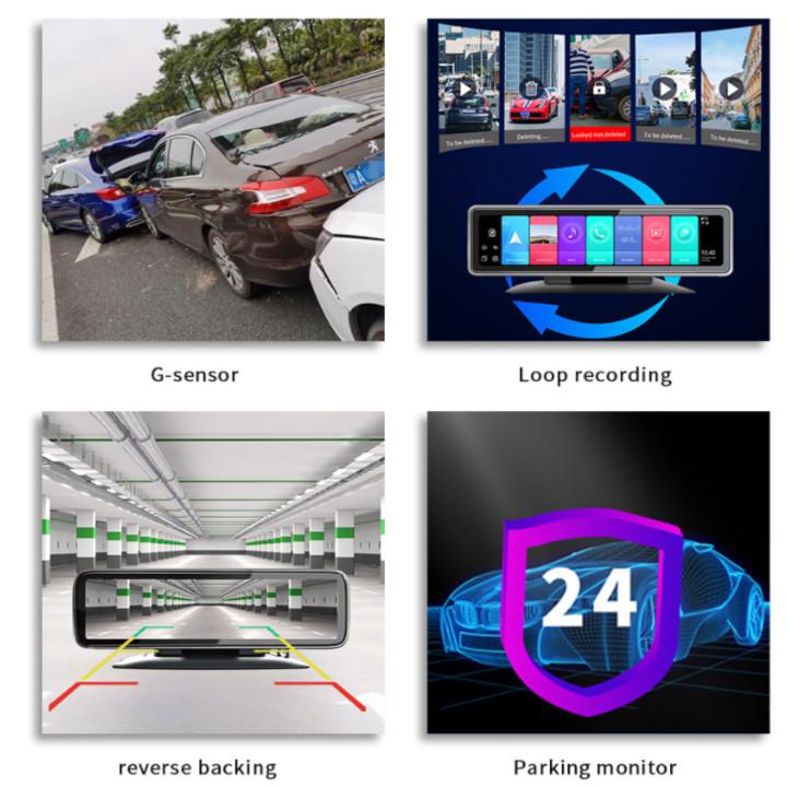 Camera hành trình 360 độ gắn gương và taplo ô tô cao cấp Phisung T88 - Ram: LPDDR4, 2GB, Rom: EMMC5.1, 32GB - Hệ điều hành Android: 9.0 - Hàng Nhập Khẩu