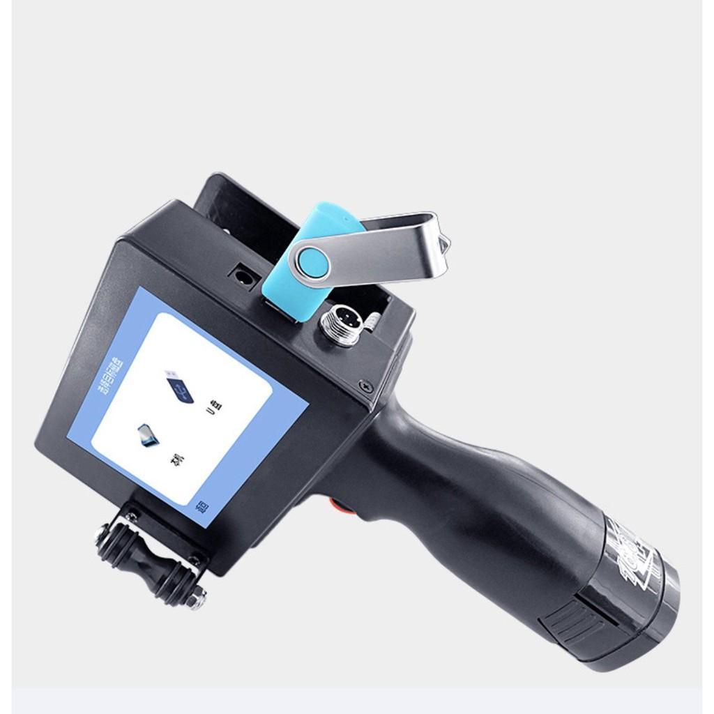 Máy in phun cầm tay in QR code, logo, số seri ngày tháng LCD Printing USB tặng kèm hộp mực - Home and Garden