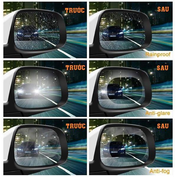 Miếng dán chống nước mưa gương xe 100x145mm 5