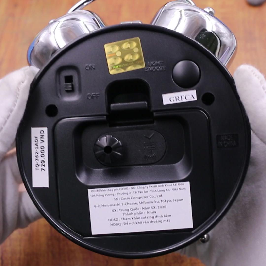 Đồng Hồ Để Bàn Casio TQ-362-1ADF Có Đèn - Chuông Báo Thức - Dạ Quang - Kích Thước ( 13.6×10.6×6 cm )