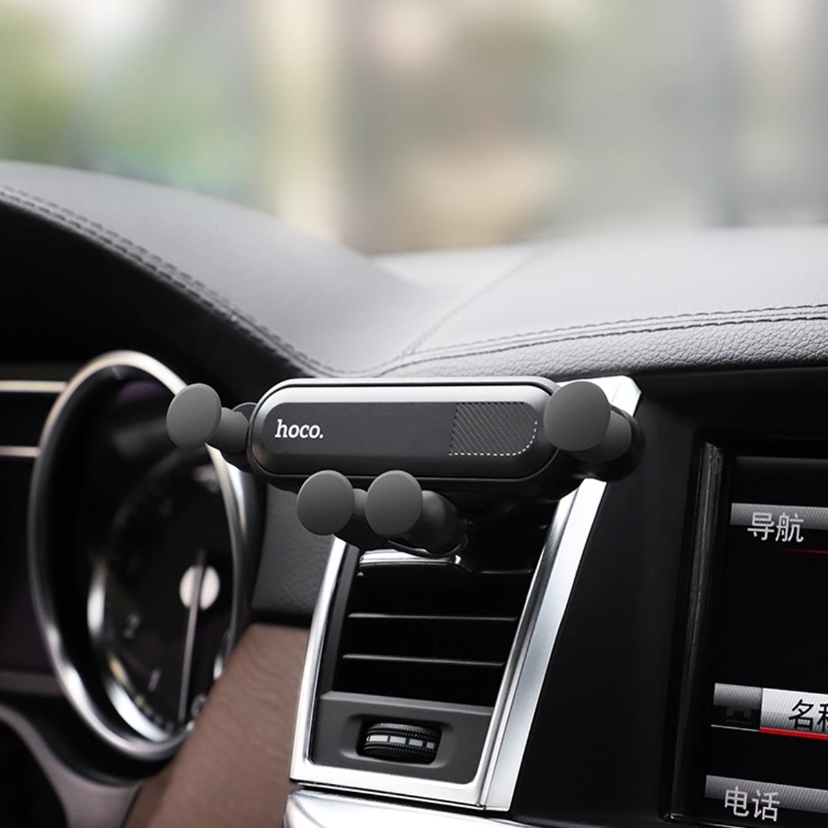 Gía đỡ điện thoại trên xe hơi nhỏ gọn thông minh -Hoco CA51 + Tặng Iring Khay - Chính Hãng