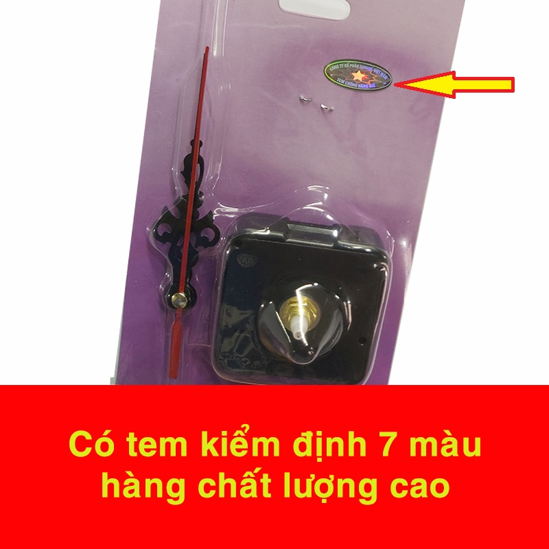 Bộ Máy Đồng Hồ Treo Tường Kim Trôi (Full Box)