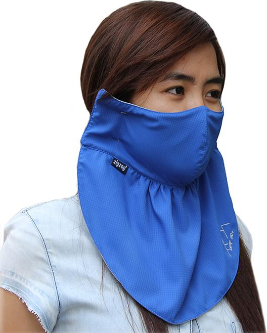 Áo khoác nữ chống nắng UPF50+ Vivid Blue Zigzag JAC003 tặng khẩu trang lớn trị giá 129k