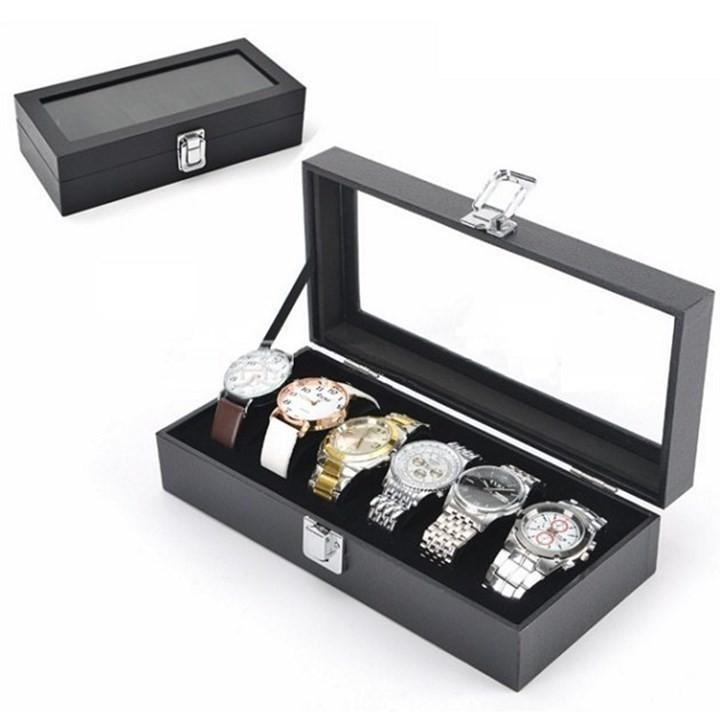 Hộp da PU cao cấp  đựng 6 chiếc  đồng hồ