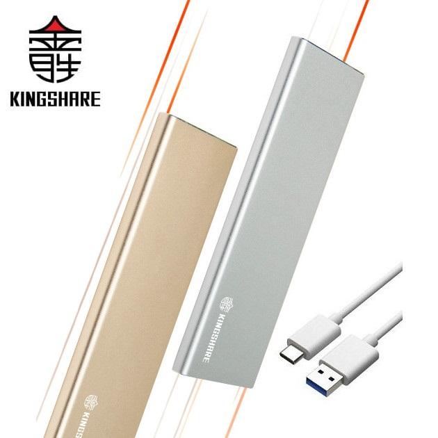 Box Kingshare SSD M2 SATA To USB Type C - Màu Ngẫu Nhiên - Hàng Nhập Khẩu