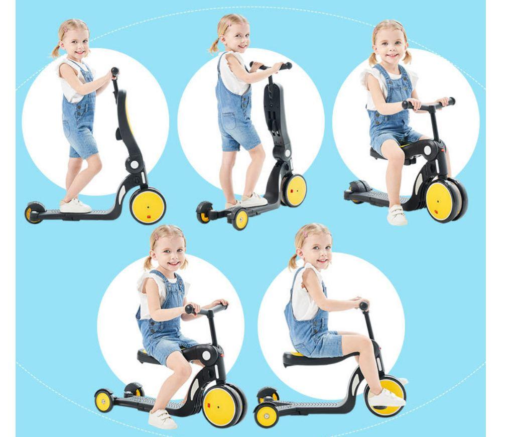 ️Tặng Hút Ráy Tai Tự Động️ Xe Trượt Scooter Kiêm Xe Chòi Chân, Xe Thăng Bằng - Xe Đạp Trẻ Em 2, 3 Bánh ️Xe Tập Đi Cho Bé.