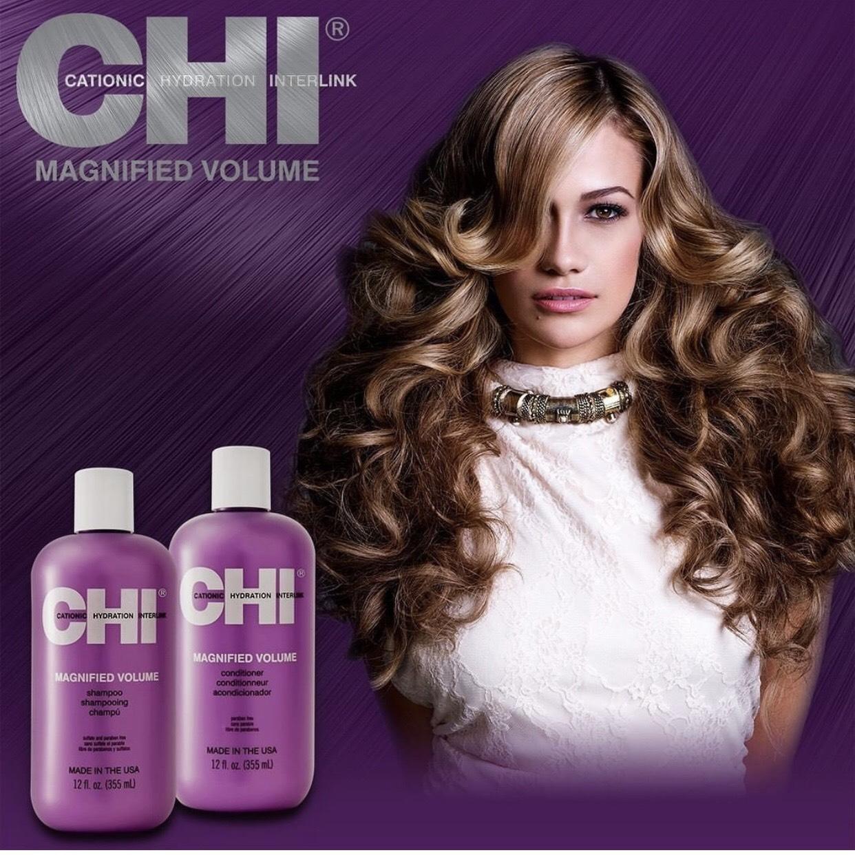Bộ dầu gội xả CHI Magnified Volume tăng độ phồng cho tóc mỏng xẹp Mỹ 355ml