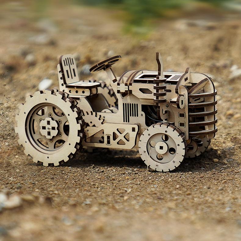 Mô hình Cơ động học Máy Kéo - Tractor Robotime LK401