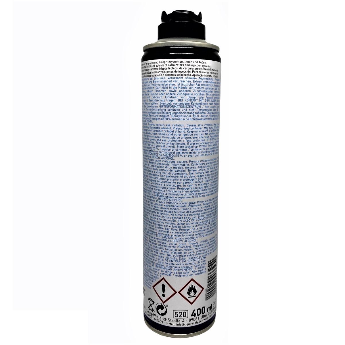 Chai xịt vệ sinh bình xăng con, cổ hút Liqui Moly 3325 - Tặng kèm 1 khăn lau chuyên dụng 3M
