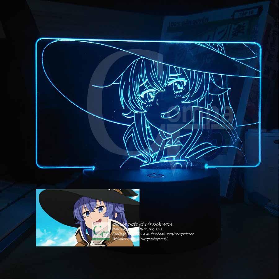 Đèn Ngủ Mushoku Tensei Roxy Migurdia AMST0201 16 màu tùy chỉnh quà tặng sinh nhật quà tặng độc đáo