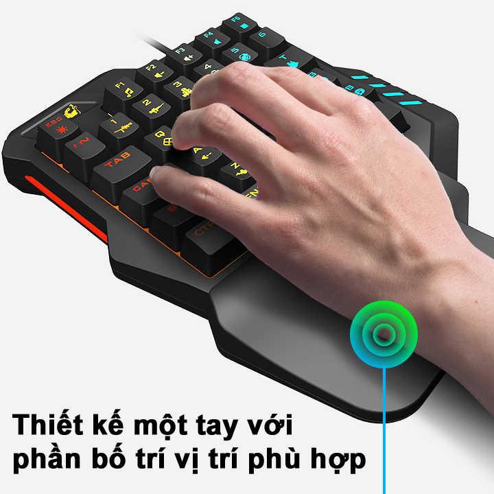 Bàn phím giả cơ FREE WOLF K1 HN chơi game Pubg Mobile, Rules of Survival, Free Fire trên điện thoại, máy tính bảng, Laptop và PC